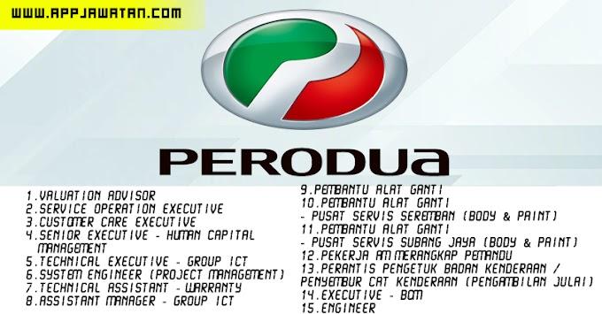 Jawatan Kosong di Perusahaan Otomobil Kedua (Perodua).