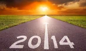 Ενας δρόμος φαρδύς ,στο βάθος ανατέλλει ο ήλιος που μας δείχνει οτι ερχεται η νεα χρονια 2014