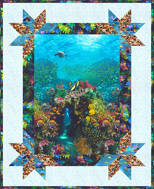 Beneath the Waves Quilt Free Pattern Designed by eQuilter