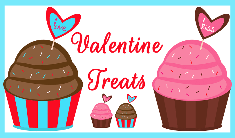 Valentine Cupcake Clipart by Grade ONEderful Designs
