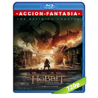 El Hobbit The Battle Of The Five Armies (2014) BRRip 720p Audio Trial Latino-Castellano-Ingles 5.1