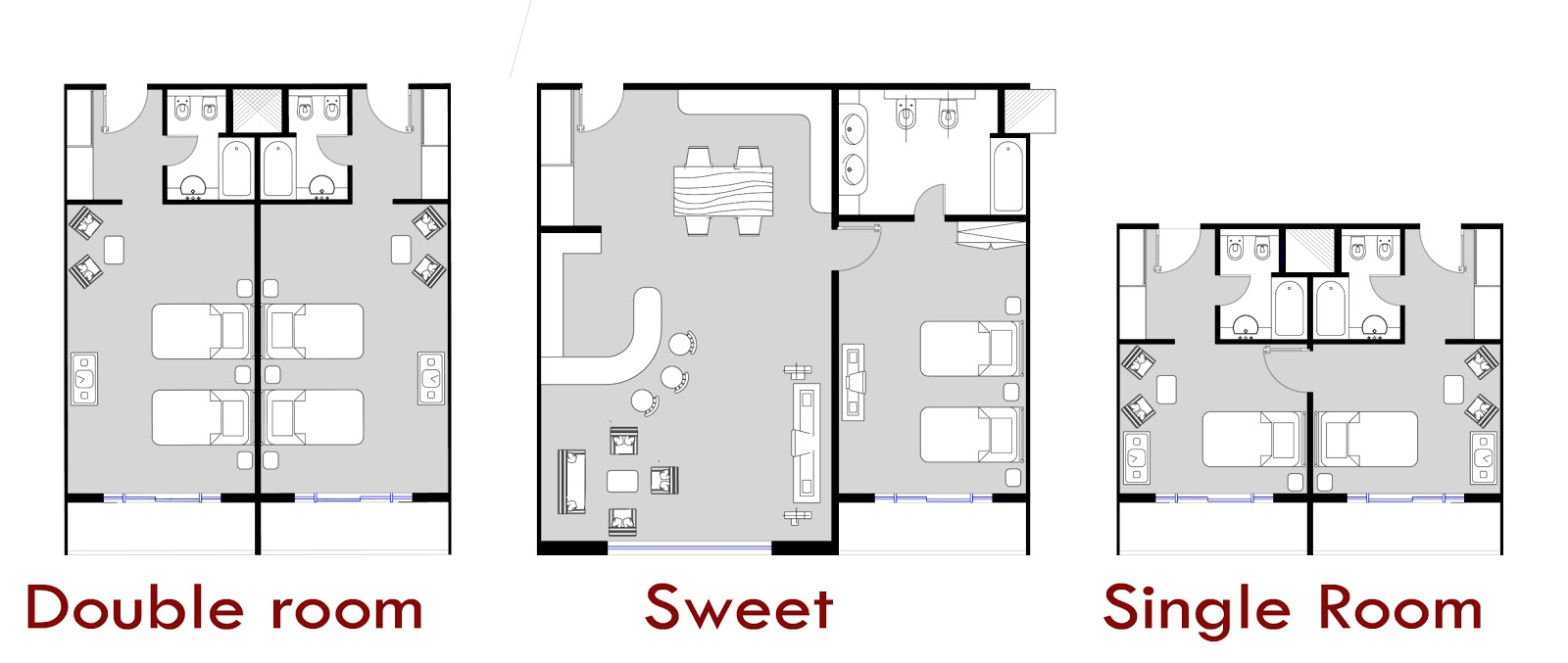 Foundation Dezin & Decor: Hotel room plans & layouts.