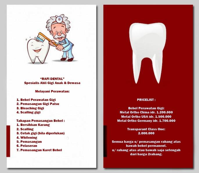 Behel Gigi Rafi Dental Care 0856-9866827  Tarif Dan Jasa Behel Gigi 7f4935ea38
