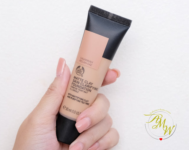 a photo of The Body Shop Matte Clay Skin Clarifying Foundation Review.