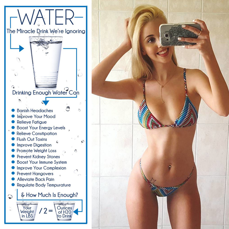 Drink water to lose weight!