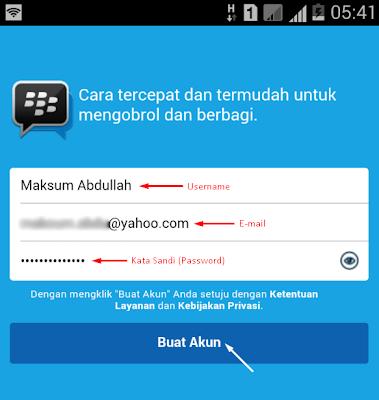 Buat Akun BBM di Android