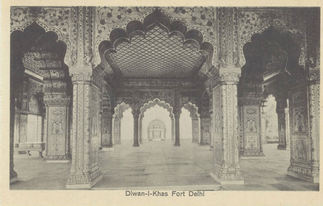 Interior View of the Diwan-I-Khas in Delhi Red Fort