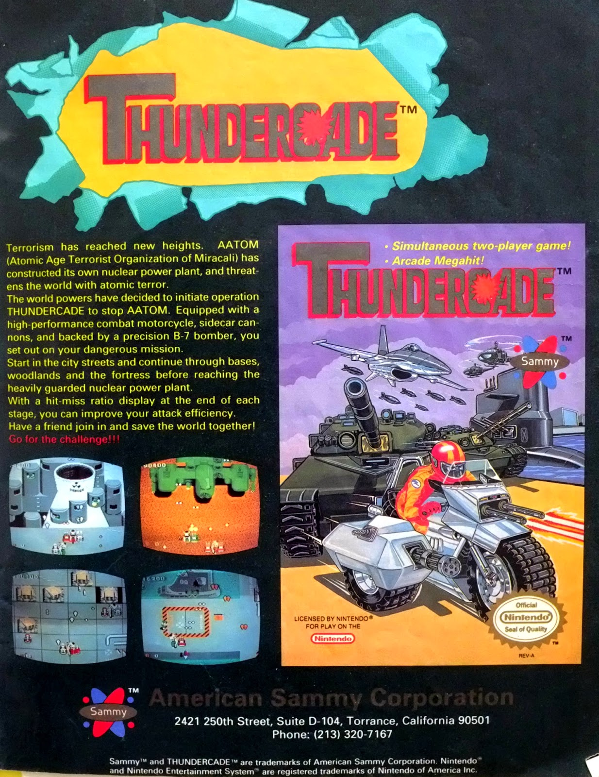 Thundercade for NES advertisement