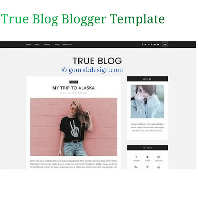 True blog professional blogger template
