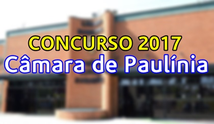 Concurso Câmara de Paulínia 2017