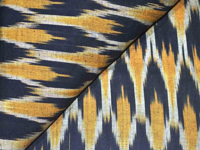 Handloom Cotton Tye and Dye Ikat Fabric