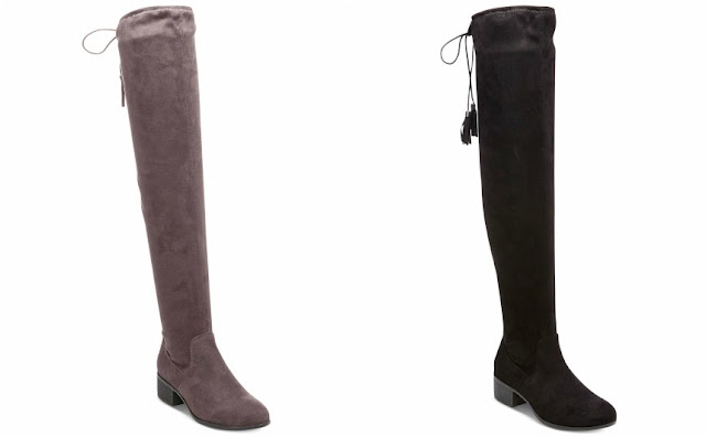 Madden Girl Prissley Over-the-Knee Tassel Stretch Boots $35 (reg $79)