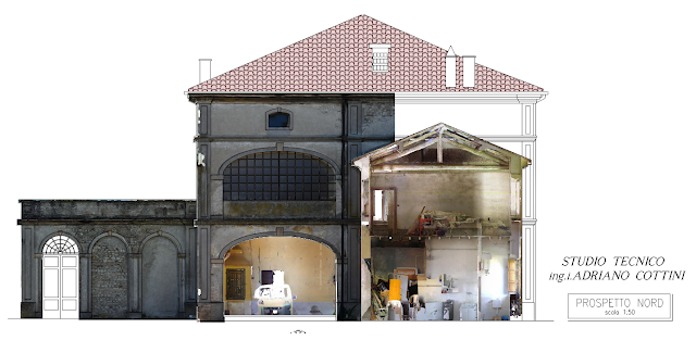 "Rustic Court ""La Faggiola"", Piacenza (ITALY) - CAD redrawing with high resolution colored orthophotos - by Studio Tecnico Cottini - JRC 3D Reconstructor"