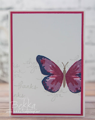 Watercolor Wings Thank You Card - you could get one of these when you place an order at www.bekka.stampinup.net