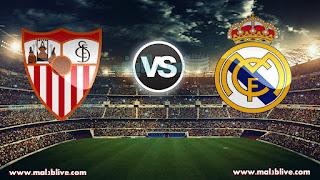 مشاهدة مباراة ريال مدريد واشبيلية Real madrid Vs Sevilla fc بث مباشر بتاريخ 09-12-2017 الدوري الاسباني