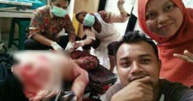 Gara-gara Selfie Dengan Pesakit Nazak Menanti Mati, Petugas Medik Dikecam Teruk Netizen