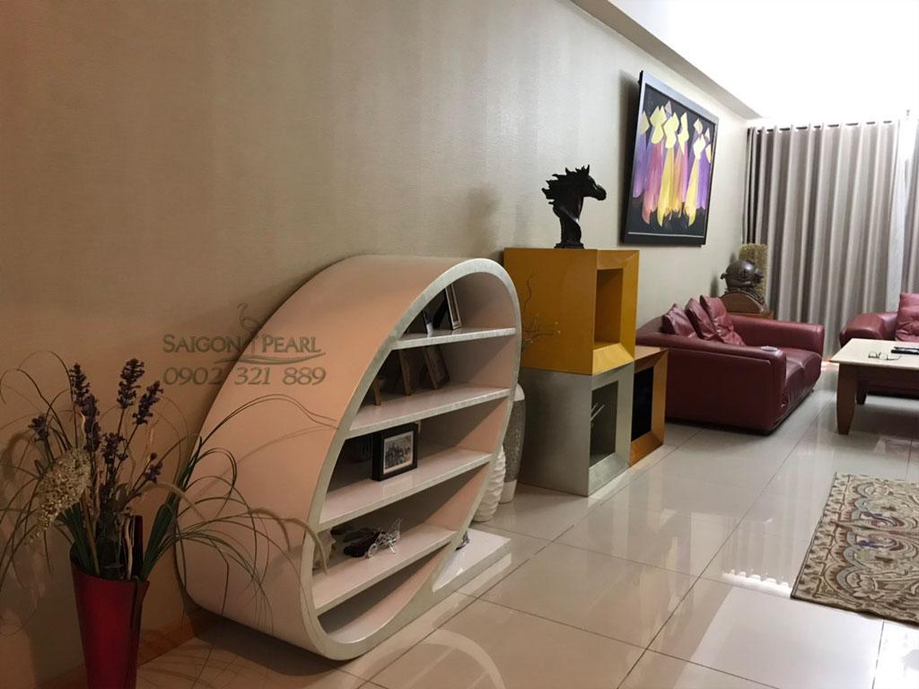 {Ruby 2 Saigon Pearl} cho thuê căn hộ 3PN tầng cao nội thất đẹp - hình 2