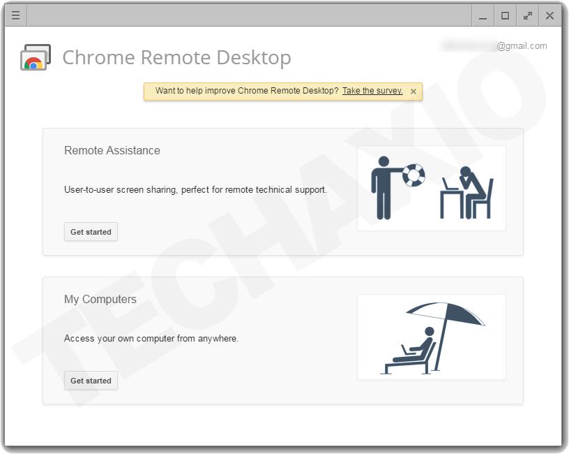 Chrome Remote Desktop Main