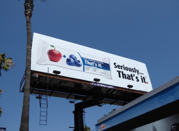 Seriously Thats it snack bar billboard