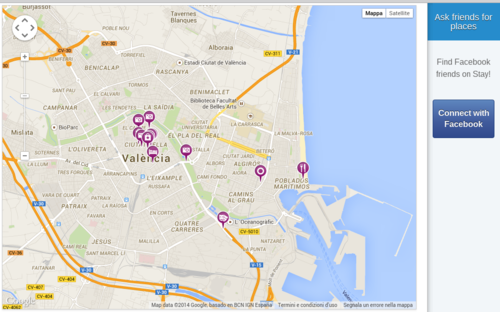 Valencia mappa