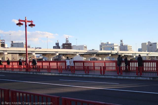 Azumabashi Bridge in Tokyo, Japan
