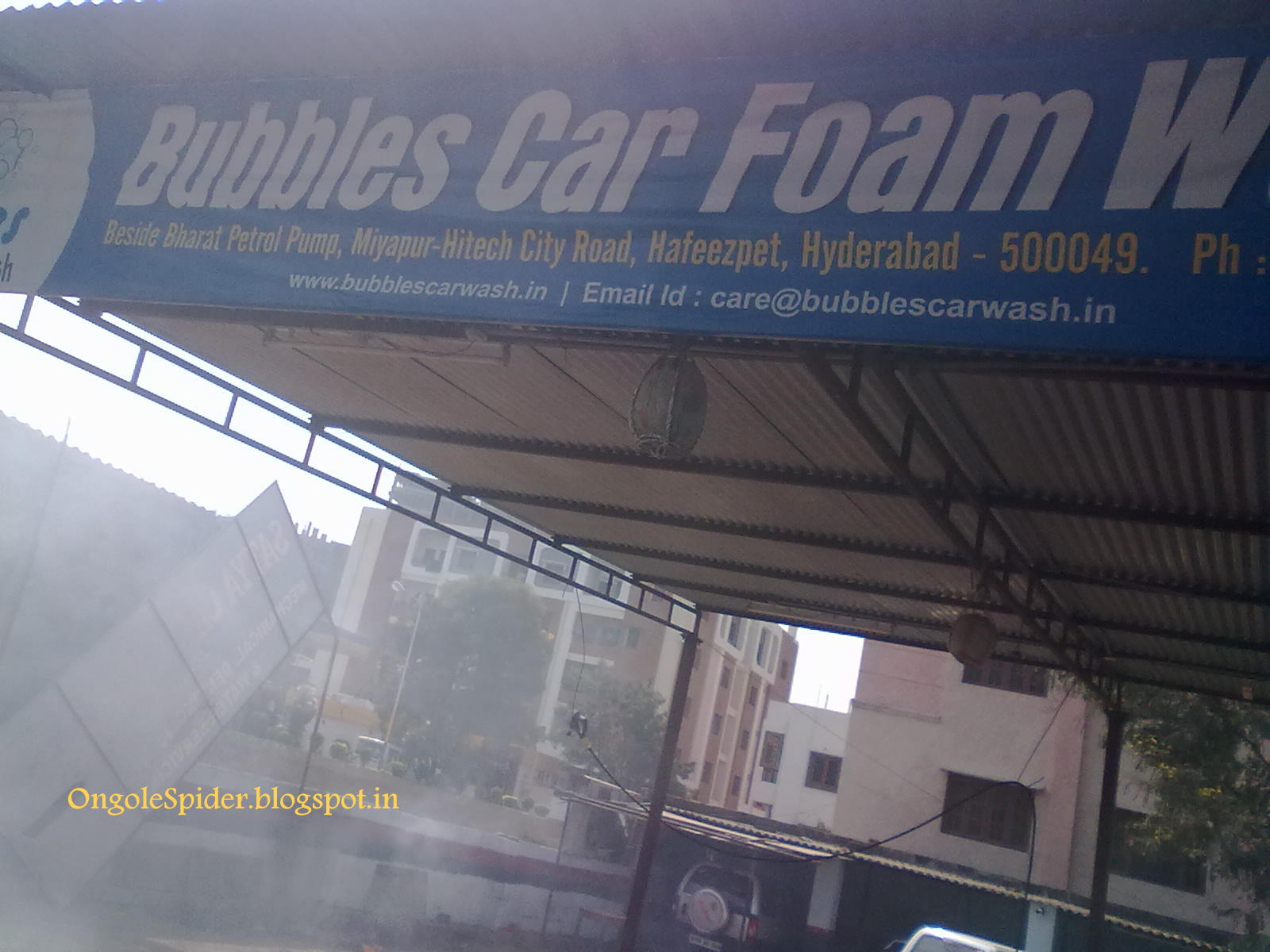 Bubbles Car Wash Hafeezpet Miyapur Kondapur Road