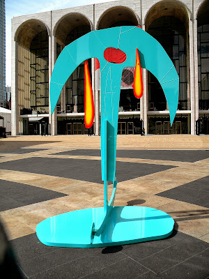 Melt to Earth sculptures at Lincoln Center
