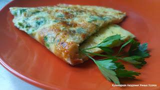 омлет с сыром и зеленью порция