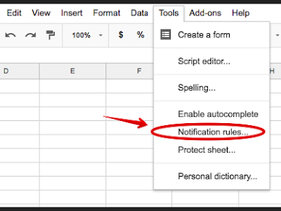 Here Is How to Set Notifications for Shared Spreadsheets