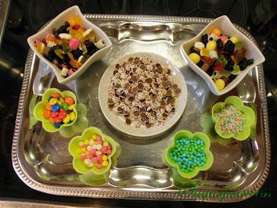 Süßigkeiten für unser Lebkuchenhaus - Lebkuchenhaus dekorieren