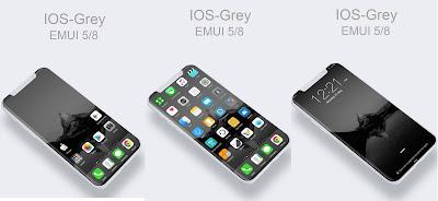 Huawei Themes: IOS Mono Grey Theme for emui 5 / 8