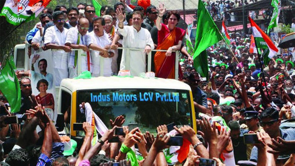 Election Commission demands inquiry about Rahul Gandhi Road show in Pak flag, Thiruvananthapuram, News, Lok Sabha, Election, Flag, Pakistan, Complaint, Kerala