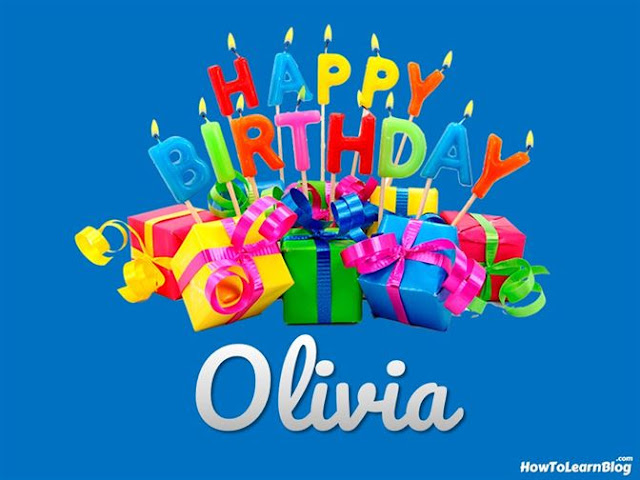 Happy Birthday Olivia | Best Wishes | Greeting Card | HBD Celebration