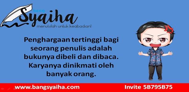 Minta buku gratisan, Menerbitkan buku itu susah, Bang Syaiha, http://www.bangsyaiha.com/