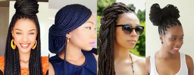 Penteados para cabelo com tranças sintéticas