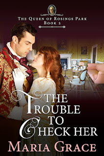 Book cover: The Trouble to Check Her by Maria Grace