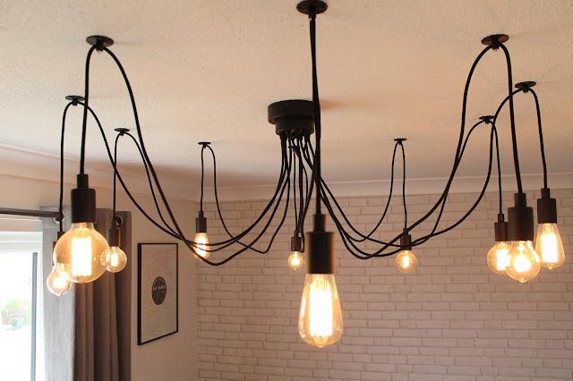 Industrial Chandelier - Hanging Edison Bulbs