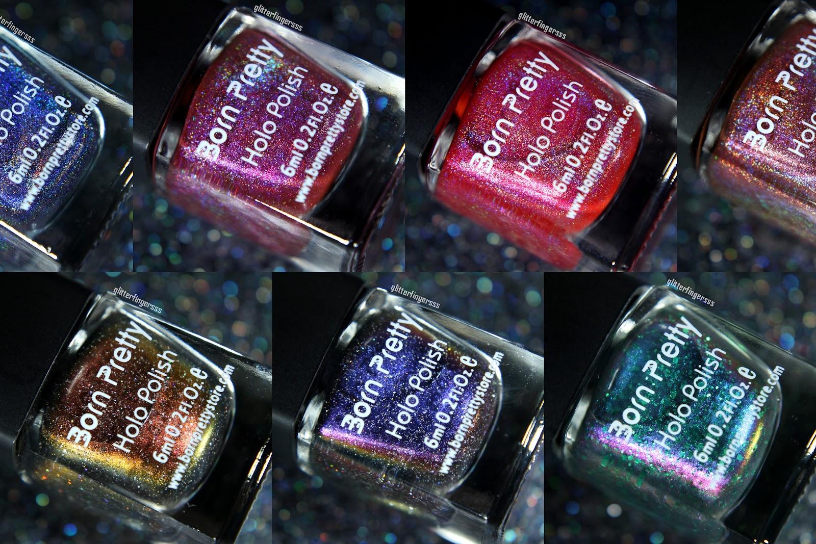 Born Pretty Store holo and chameleon nail polishes ...