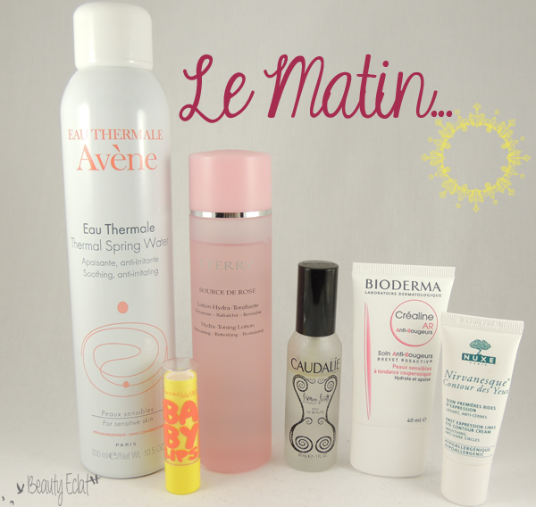 routine soins matin avene by terry caudalie bioderma nuxe
