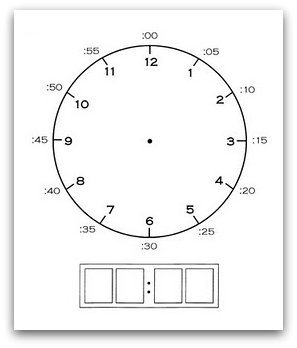 relentlessly fun deceptively educational complete a clock printable. Black Bedroom Furniture Sets. Home Design Ideas