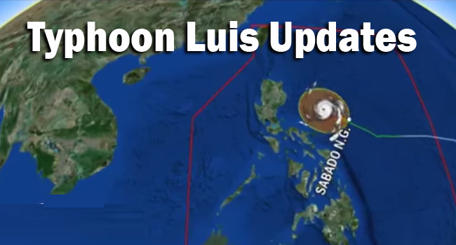 Typhoon Luis Updates: Strom Signal and Affected Locations