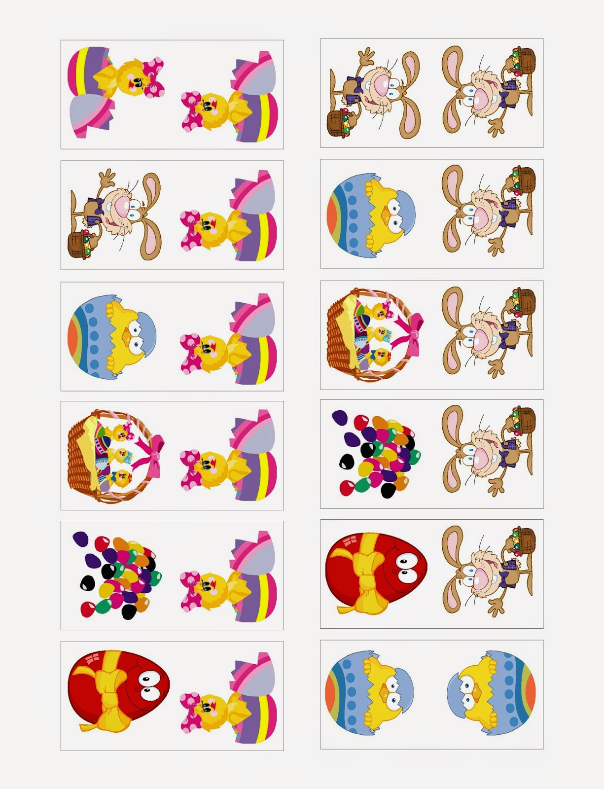 Easter Domino Printable Game by Kandy Kreations