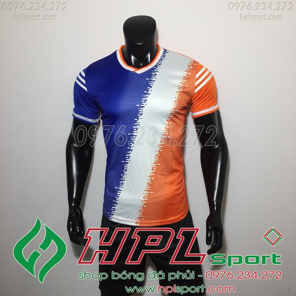 Áo bóng đá không logo TL HML Vidad  màu cam