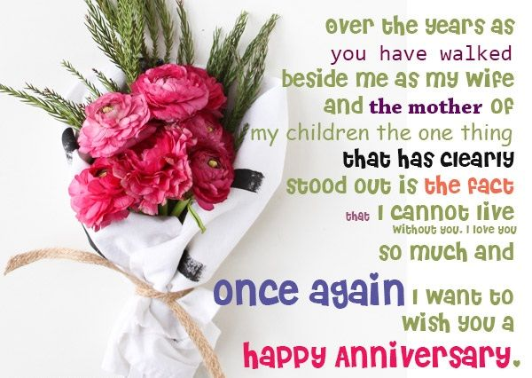 Happy wedding anniversary message to wife from husband with images romantic things to say to your wife on your anniversary m4hsunfo