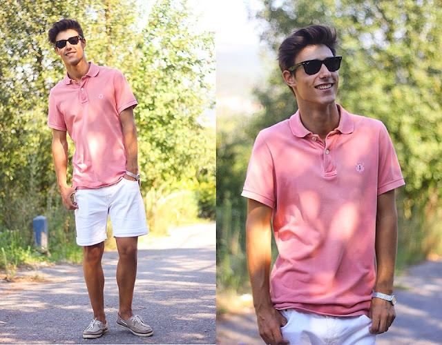 Look Masculino rosa com camisa polo (1)