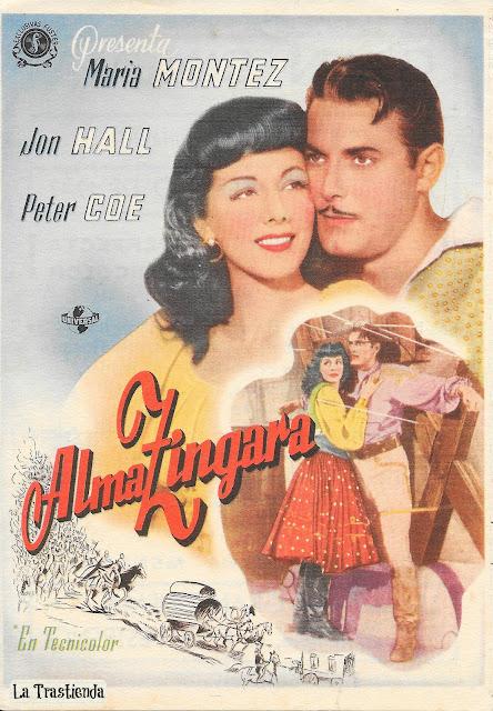Programa de Cine - Alma Zíngara - Jon Hall - Maria Montez