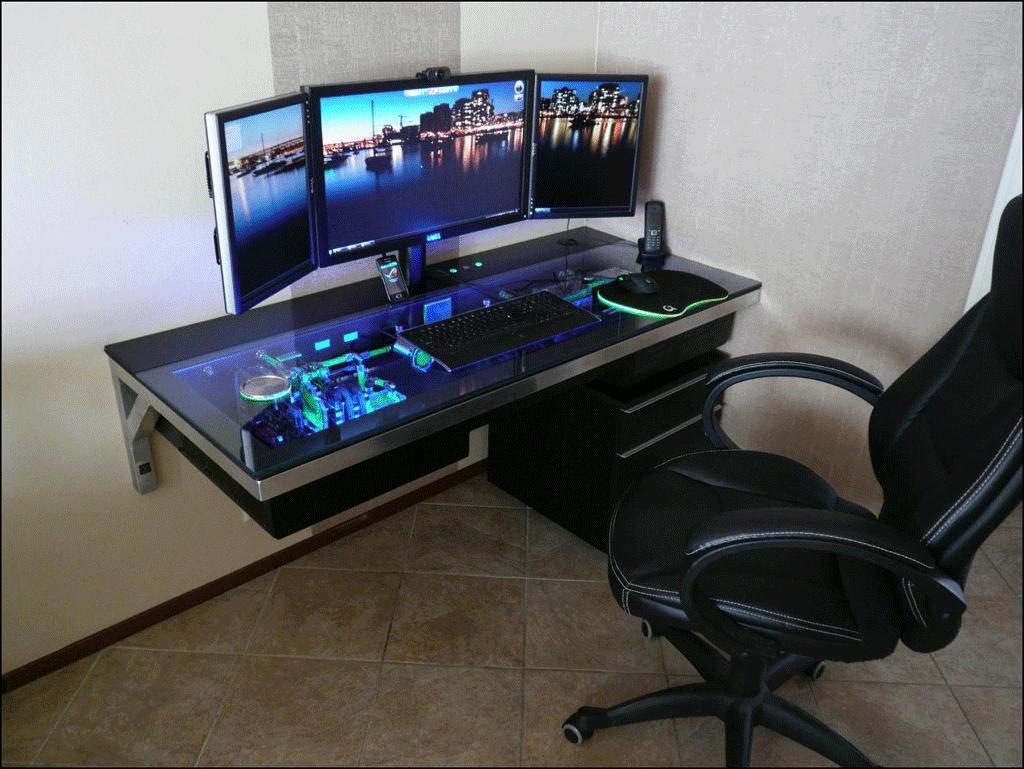 mods compudesk computer integrated into a desk pimp my rig reloaded. Black Bedroom Furniture Sets. Home Design Ideas