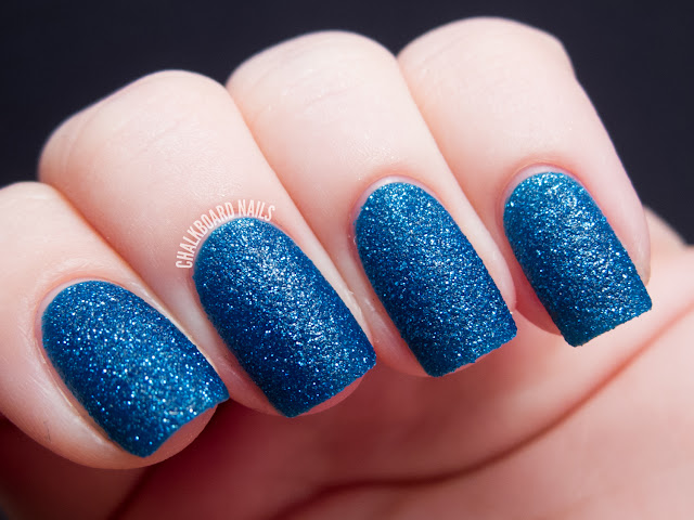 Chalkboard Nails: Zoya Liberty (PixieDust textured shade)