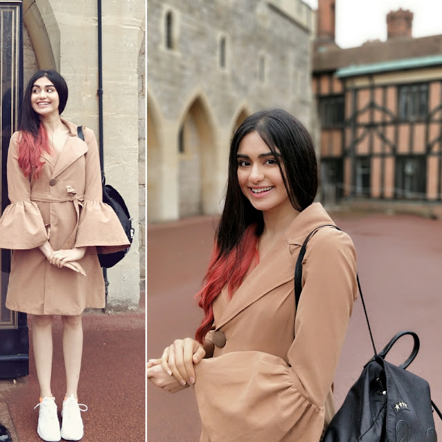 Hasee toh phasee girl  Adah Sharma looked pretty​ in Cover Story Bell Sleeve Coat