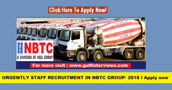LATEST JOB VACANCIES IN NBTC GROUP I KUWAIT
